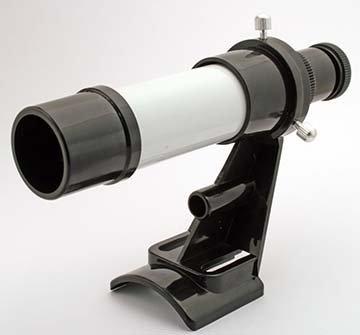 TS Optics 5x24 Sucherfernrohr mit 2-Loch Basis für Einsteigerteleskop, SU524W