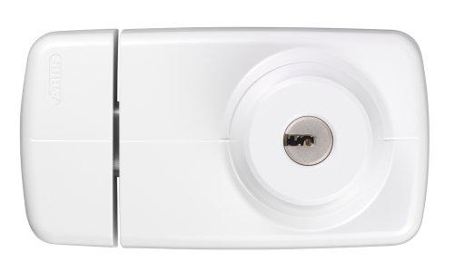 Abus 7025 W B - Cerrojo de Sobreponer con cilindro de seguridad de puntos interior blanco blister