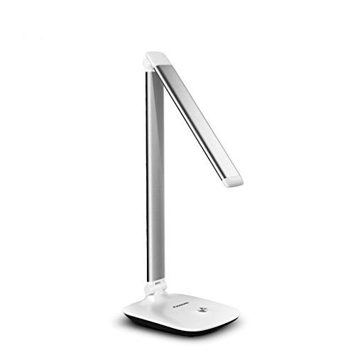 - Tafellamp tafellamp, LED-oogbescherming dimbare lamp, met touch-sensor bedieningspaneel, 3 dimmer (goud/roze/zilver) bedlampje