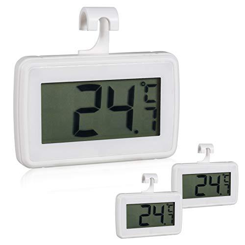 Thermomètre Réfrigérateur,thermomètre intérieur,thermometre congelateur,thermomètre numérique étanche Congélateur Réfrigérateur avec Facile à Lire écran LCD et Max