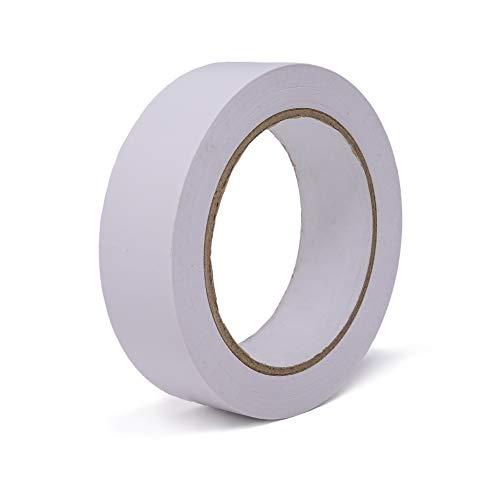 gws Putzband PVC glatt Abklebeband leicht abrollbar | Maler-Schutzband in Profi-Qualität | versch. Farben & Breiten | Länge: 33 m (1 Rolle - 30 mm breit - weiß glatt)