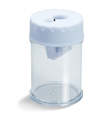 Rapesco Accesorios - Sacapuntas de doble agujero y compartimento para las virutas, varios colores