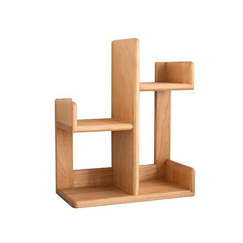 JCNFA-BOEKENPLANK Massief Houten Planken, CD/DVD-plank, Bureau Boekenkast, Zwarte Walnoot/Kersenhout, Desktop Kleine Boekenplank (Color : Cherry wood, Size : 17.71 * 8.66 * 21.65in)