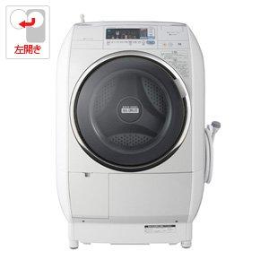 日立 9.0kg ドラム式洗濯乾燥機【左開き】グレー系HITACHI ヒートリサイクル 風アイロン ビッグドラム BD-V5500L-H