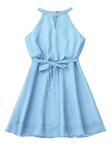 IEFIEL Vestido Corto de Fiesta para Niña Vestido Elegante de Dama de...