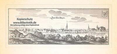 Kunstdruck Stadt Alten Ruppin Alt Ruppin Ruppiner See Rhin Dominikanerkloster Merian 0595