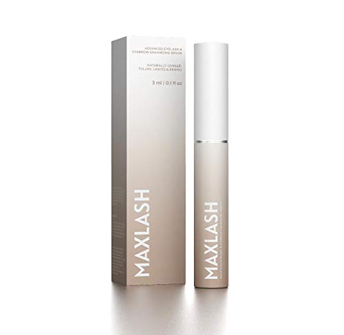 MaxLash Advanced Eyelash & Eyebrow Enhancing Serum - Maximum Strength Formula - Longer, Fuller Thicker Lashes & Brows