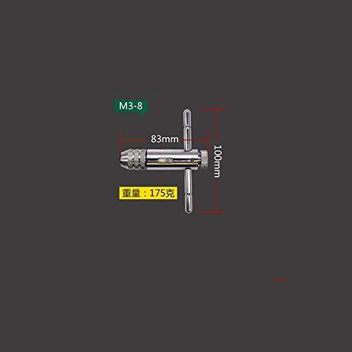 HONYGE LXGANG Positiva y Negativa de trinquete Ajustable Llave Inglesa grifos Tipo de Alambre T Tap extendido Herramienta de Empalme (Color : Silver)
