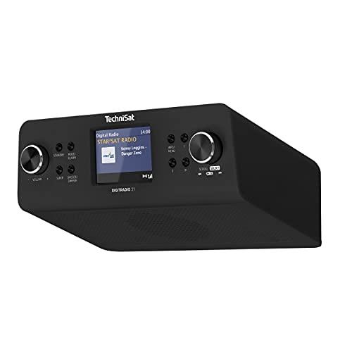 """TechniSat DIGITRADIO 21 - DAB+ Unterbau-Küchenradio (DAB+, UKW, 2,8\"""" Farbdisplay, Favoritenspeicher, Wecker, Kopfhöreranschluss) schwarz"""