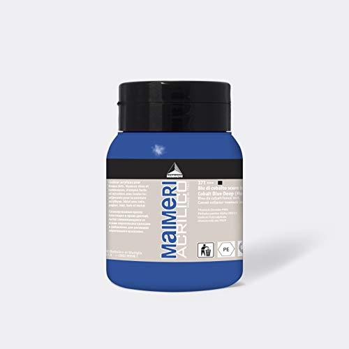 MAIMERI Acrilico 500 ml, colore acrilico fine per artisti, colore blu cobalto scuro (imitazione)