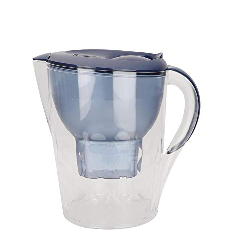 Water Filter Pitcher, 3.5L Drinking Water Filter Purifier Filtration Jug Kettle Filtered Water Pitcher Targets Harmful Contaminants Chlorine Metals Sediments for Clean Tasting Water