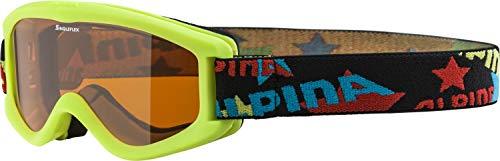 Alpina Kinder Skibrille Carvy 2.0, lime, One Size