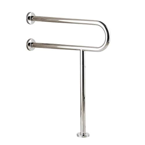 WAZZJ Handicap Grab Bars Toilet Rail Bathroom Support for Elderly Bariatric Disabled Stainless Steel Commode Medical Accessories Safety Hand Railing Guard Frame Shower Assist Aid Handrails Hand Grips