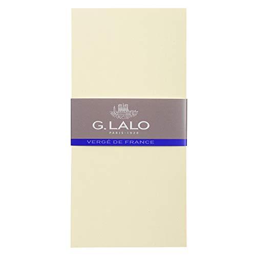 Lalo 44316L - Pack mit 25 Karten, 10,3x21,3 cm 300g, Vergé-Papier, 1 Pack, Elfenbein