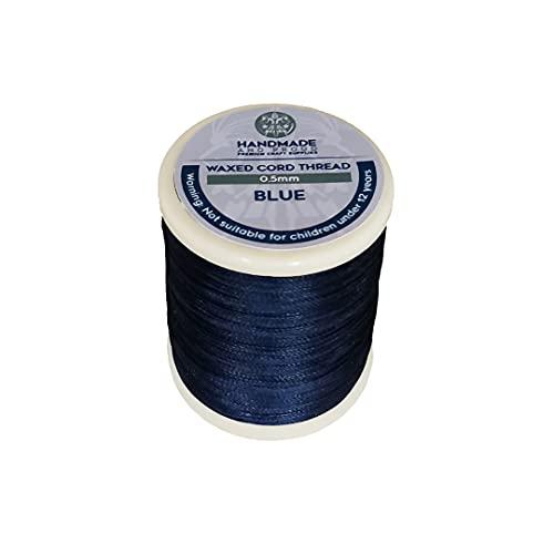 HandmadeAndProud - Cuerda encerada redonda de 0,5 mm, para hacer joyas, color azul marino