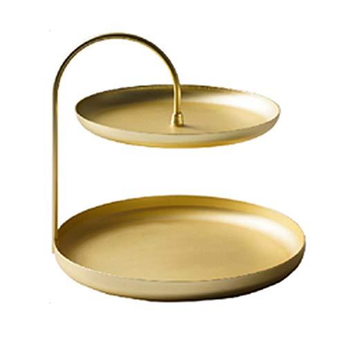 organizador joyas El hierro forjado doble placa de joyas pendiente artículos diversos cosméticos de rack de almacenamiento de claves de escritorio de múltiples capas expositores joyeria ( Color : B )