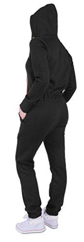 15A4 Finchgirl FG181 Damen Jumpsuit Overall Einteiler Jogging Anzug Schwarz M - 2