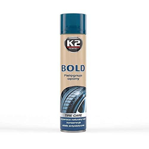 K2 | Reifenreiniger, Reinigen, Polieren, Schützen, Reifenpolitur, schöne schwarze Reifen, Sprühflasche 600ml