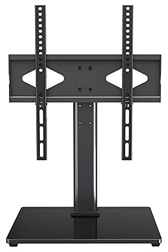 TabloKanvas Universal TELEVISOR Pararse TELEVISOR Soporte con Soporte para TV de Pantalla Plana de 37-55 Pulgadas de Altura Ajustable 400x400mm (Color : Black)