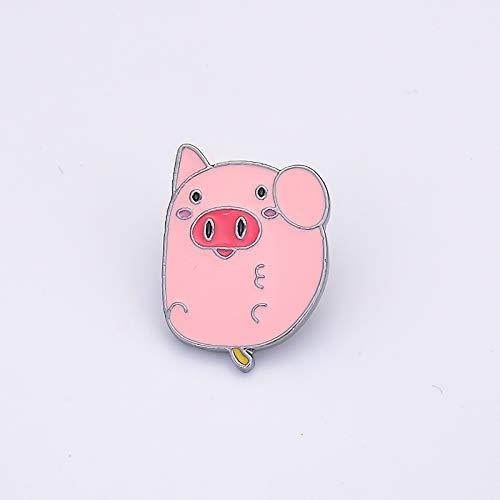 SFFSMD 12 Pin broches Animales Lindas for Las Mujeres de los Hombres del Zodiaco del ratón de Dibujos Animados Pernos Chino Conejo Ovejas Broche de Dril de algodón de Cuello Placa Chaquetas