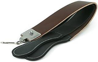"Leather Razor Strop : 2 1/2"" X 23"" Barber's Razor Strop Cow Hide, Dual Straps with Swivel Clip"