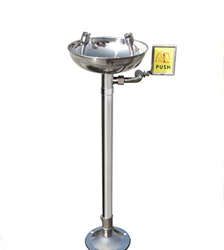 ZLININ Acero Inoxidable 304 Lavaojos Lavaojos de Emergencia de pulverización Vertical Dispositivo de Ducha for Laboratorio Industrial Ducha