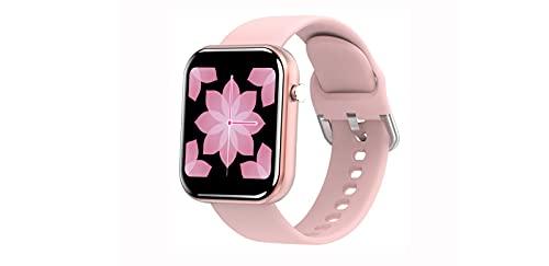 ASDFDG Reloj Inteligente Bluetooth, Reloj Inteligente con Pantalla Táctil de 1.5 Pulgadas,Cronómetro, Reloj Inteligente para Hombres y Mujeres para iPhone, Teléfono Androidpink