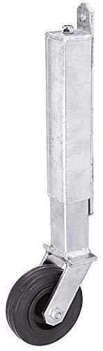 GAH-Alberts 416850 Torlaufrolle | für leichte Tore | bis 70 kg | zum Anschrauben | feuerverzinkt | Höhe 400 mm | Rollen-Ø 100 mm