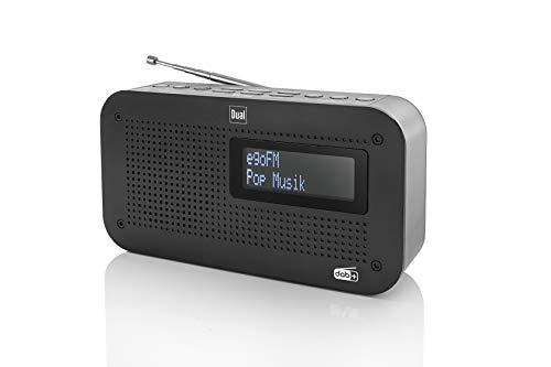 Dual DAB 71 Portables Digitalradio (UKW/DAB+ Tuner, Senderspeicherfunktion, LC-Display, Netz- oder Batteriebetrieb) Schwarz