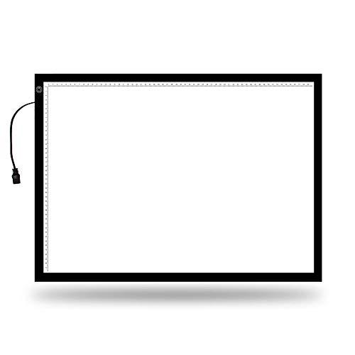 DYecHenG Tablero de Copia LED Dibujo Caja Ligera llevada luz Junta hasta A2 Rastreo Caja con USB Brillo Ajustable Powered Portable y Brillante para Visualización de Rayos X
