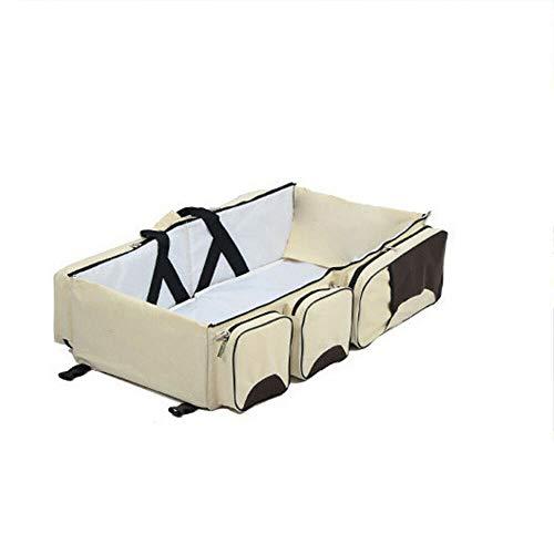 3 in 1 Tragbare Kleinkind Babybett Babyreisebett Wickeltasche Wickeltaschen Reisebett Baby Wickelrucksack mit Multifunktional Oxford Wasserdichte Wickelunterlage