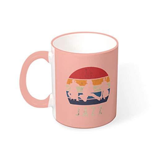 FFanClassic Taza de café Jazz durable cerámica personalizada novedad – tazas para oficina para regalo de cumpleaños vcbe 330ml