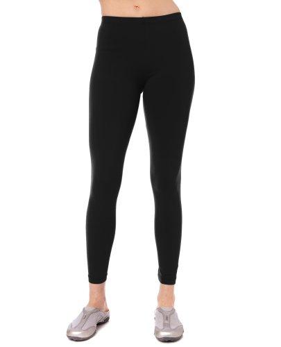 Danskin Women's Classic Supplex Body Fit Ankle Legging,Black,3X