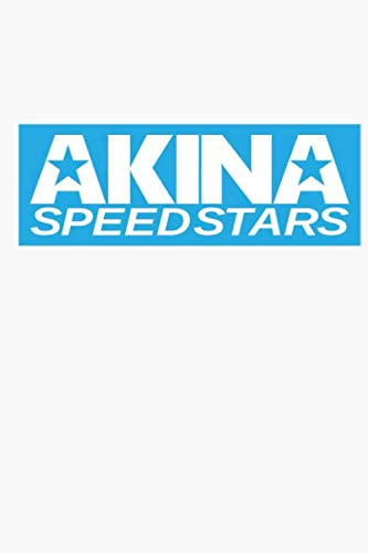 Akina Speed Stars Blue Notebook: (110 Pages, Lined, 6 x 9)