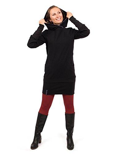 Viva la Mama Umstandsmode Kleid Winter Schwangerschaft Kleid Elegantes Stillkleidung Kleid mit Stillöffnung - Davos schwarz - S