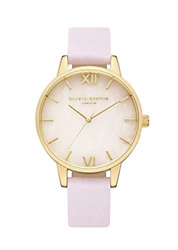 Olivia Burton Damen Analog Japanischer Quarz Uhr mit Leder Armband OB16SP20