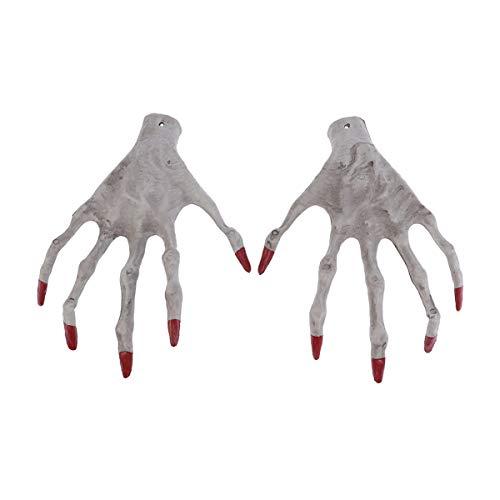 Amosfun Hexe Hände Halloween dekorative Requisiten Skelett Ghost Hand Hexe Hand Form Spielzeug Monster Hände realistische Kunststoff Skelett Hände für Halloween Party Dekoration