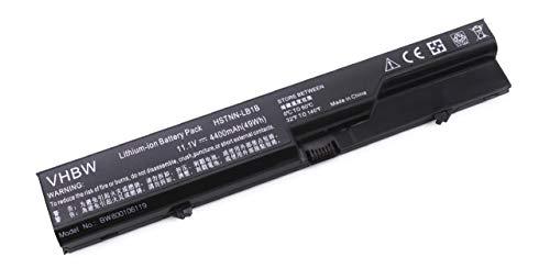 vhbw Li-Ion Akku 4400mAh (10.8V) schwarz für Notebook Laptop HP Compaq 320, 321, 325, 326, 420, 421, 425, 4320t, 620 wie HSTNN-CB1A, 587706-121.