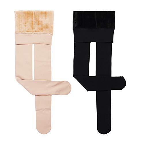 Pantimedias polainas tubo de estufa Hembra más el terciopelo que espesa la luz de la pierna Artefacto invierno pantalones caliente...