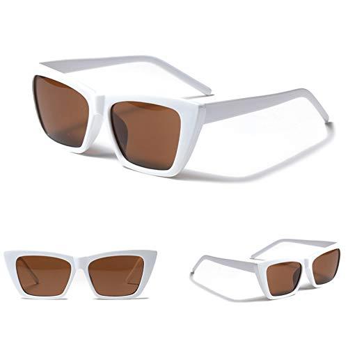 SXRAI Gafas de Sol Femeninas Uv400 Gafas de Sol Negras Verdes para Mujer,C1