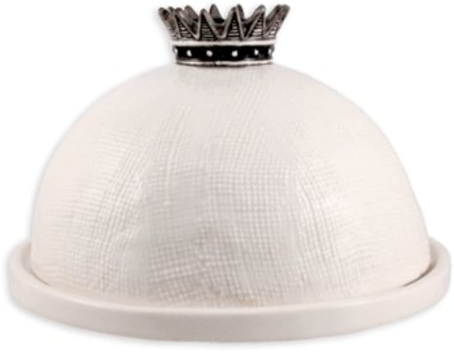 Rae Dunn Boutique Magenta Ceramic Crown Cheese Dome