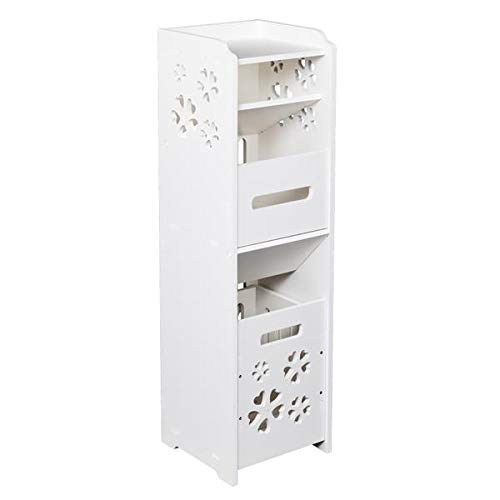 New Famgizmo Bathroom Floor Storage Cabinet Storage Organizer Set, Free Standing Unit, Multifunction...