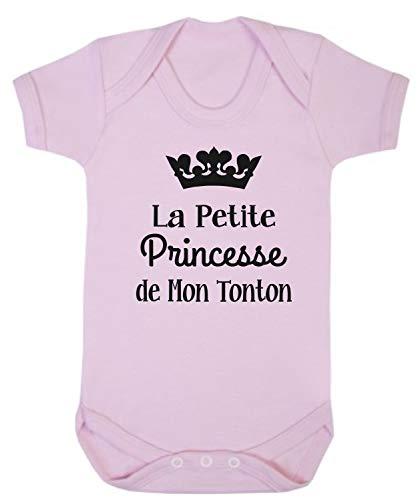 Click My Clobber, Bébé Body, La Petite Princesse De Mon Tonton, Rose, 6-12M