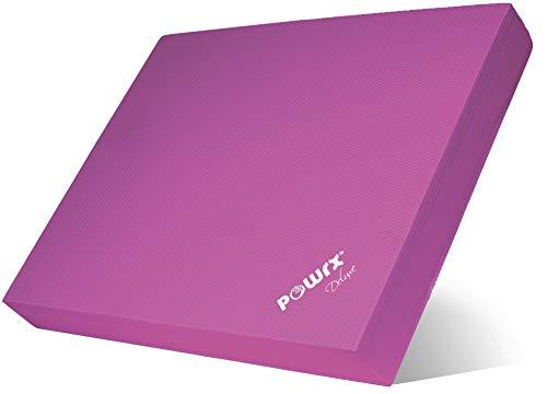 Balance Pad 40x34x5 cm inkl. Workout Ideal zum Training von Gleichgewicht, Stabilität und Koordinationstraining Versch. Farben (Pink)