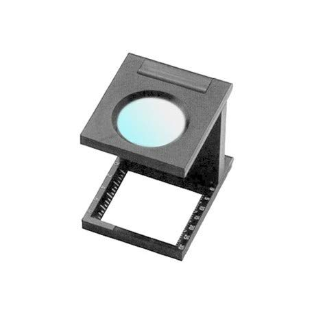 Lupa cuenta hilos 20x20 / Lupa cuentahilos Waltex 8X / Lupa plegable 8X Lumagny/WALTEX 8x 20mm x 20mm / Cuentahilo en plástico negro - 7550