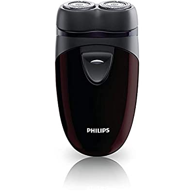 Philips Men's Electric Travel Shaver, Cordless, Battery-Powered Convenient to Carry - PQ206/18