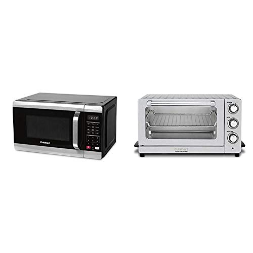 Cuisinart CMW-70 Stainless Steel Microwave Oven, Silver & TOB-60N1 Toaster Oven Broiler with Convection, Stainless Steel
