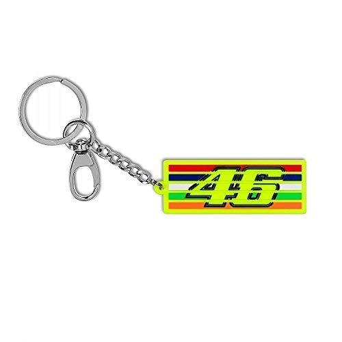 Valentino Rossi Vr46 Classic-Accessories, Portachiavi Unisex Adulto, Multicolore, 7 x 2, 5 cm/RNUM