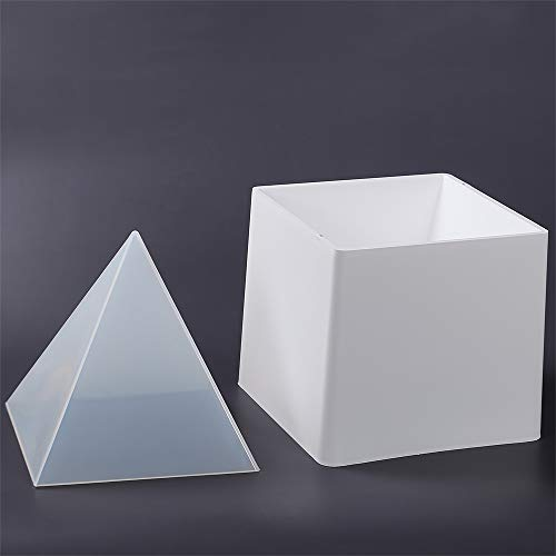 Big DIY Pyramid Resin Mold Set, Large Silicone Pyramid Molds, Jewelry Making Craft Mould Tool, 15cm/5.9
