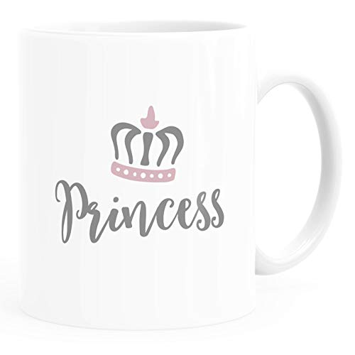 MoonWorks® Kaffee-Tasse Partner Pärchen Paare Aufdruck Princess Prince Kaffeebecher Princess weiß Keramik-Tasse